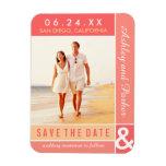 Wedding Save the Date | Modern Colorblock Vinyl Magnets