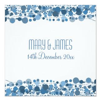 "Wedding ""Save The Date"" Modern Dots Blue Card"