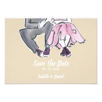 Wedding save The DATE modern trend illustration Invitation