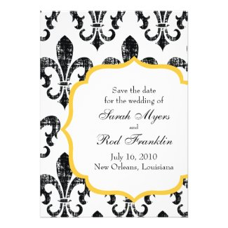 Wedding Save the Date | New Orleans | Gold Personalized Invitations