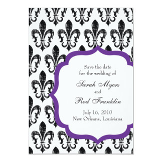 Wedding Save the Date | New Orleans | Purple Card