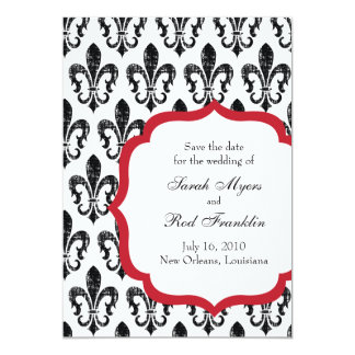 Wedding Save the Date | New Orleans | Red Card