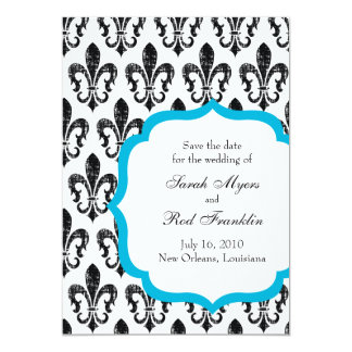 Wedding Save the Date | New Orleans | Turquoise Personalized Announcement