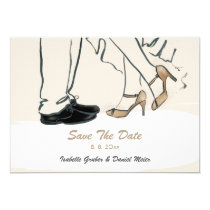 Wedding save The DATE of shoes illustration Invitation