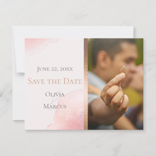 WEDDING  |  Save the Date PHOTO Blush Pink