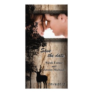 Wedding Save the Date Photo Card Rustic Country