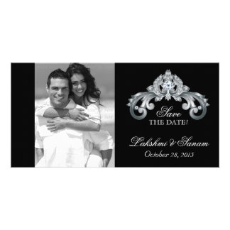 Wedding Save the Date Photocard Silver Anniversary Card