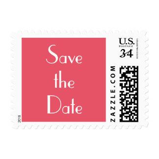Wedding Save the Date Pink Postcard Postage Stamp