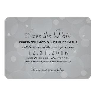 Wedding Save the Date | Platinum Gray Invite