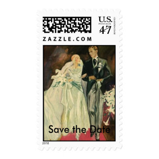 Wedding, Save the Date Postage Stamp