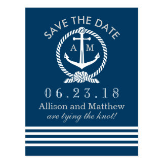 Wedding Save the Date Postcards | Nautical Theme