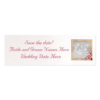 Wedding Save the Date Profile Card Customizable Mini Business Card