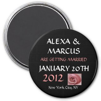 Wedding Save the Date Round Magnet