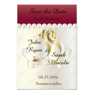 Wedding Save the Date -Ruby Red Bell Theme Card