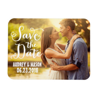 Wedding Save the Date | Simple Script Magnet