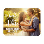Wedding Save the Date | Simple Script Rectangular Photo Magnet