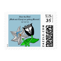 Wedding Save the Date Stamps Customizable