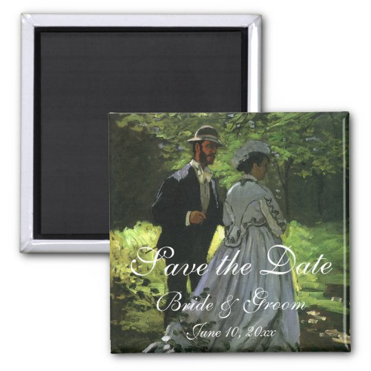 Wedding Save the Date! The Promenaders by Monet Magnet