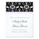 Wedding Save the Date Victorian Damask Invites