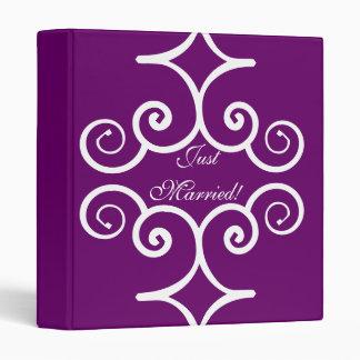 Wedding scrapbook or photo binder in dark purple