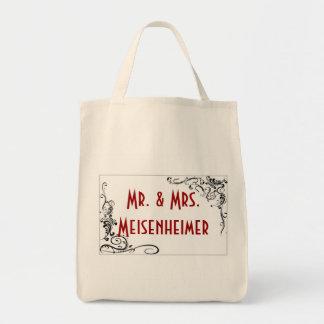 Wedding Scroll Work Frame Tote Bag