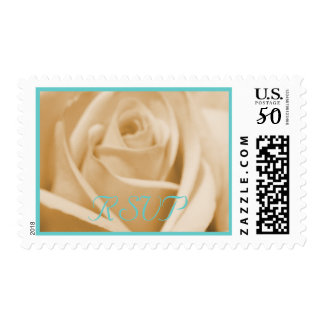 Wedding: Seafoam and Sand  - postage stamps