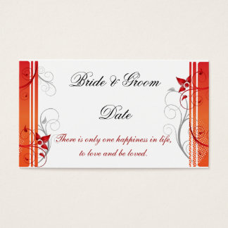 Wedding Seating Assignment Card template