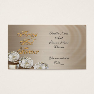 Wedding seating card always and forever, diamond