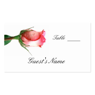 Wedding  Seating Card Template Double-Sided Standard Business Cards (Pack Of 100)