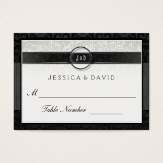 Wedding Seating Cards - Black & White Deco Simple