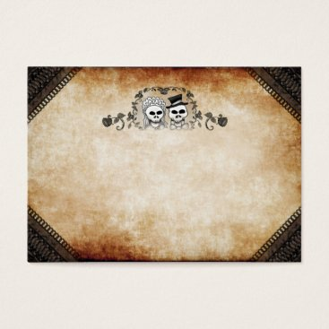Halloween Themed Wedding Seating Cards - BLANK Front Names on Back