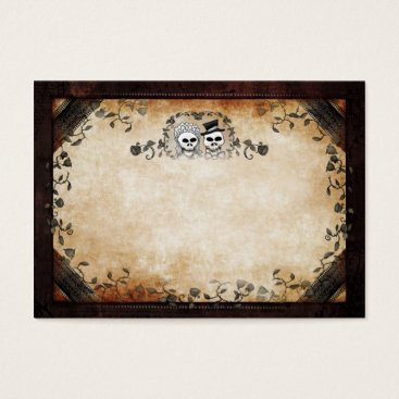 Halloween Themed Wedding Seating Cards BLANK FRONT Skeltons
