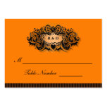 Wedding Seating Cards - Halloween Orange & Black Large Business Cards (Pack Of 100)