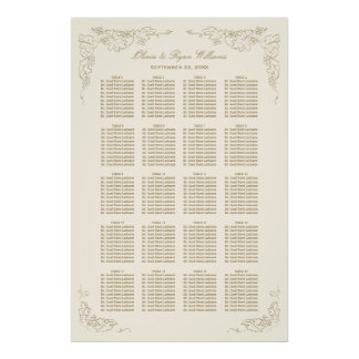 Wedding Seating Chart | Antique Grape Vines