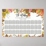 Wedding Seating Chart Autumn Fall Leaves Pumpkins