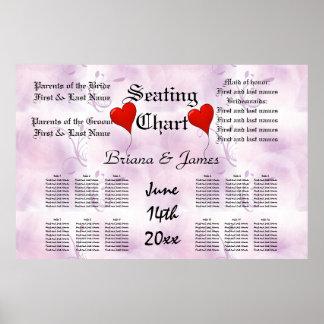Wedding Seating Chart Bride Groom Bridal Guests Poster