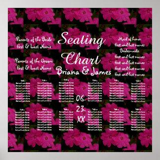 Wedding Seating Chart Bride Groom Bridal Poster