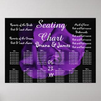 Wedding Seating Chart Bride Groom Bridal Purple