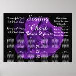 Wedding Seating Chart Bride Groom Bridal Purple Poster