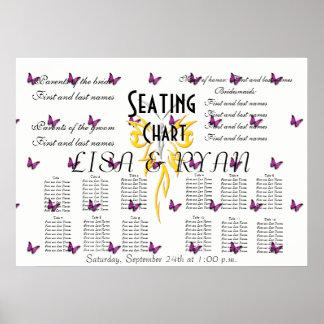 Wedding Seating Chart Butterfly Destiny'S Destiny Poster