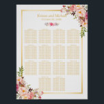 "Wedding Seating Chart Classy Chic Floral Gold<br><div class=""desc"">================= ABOUT THIS DESIGN ================= Wedding Seating Chart Elegant Chic Floral Gold Poster. (1) Please click the &quot;Customize it&quot; button and use our design tool to enter guests names. (2) The background color is changeable. All text style, colors, sizes can also be modified to fit your needs. (3) If you...</div>"