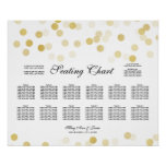 Wedding Seating Chart Gold Foil Glitter Lights Poster