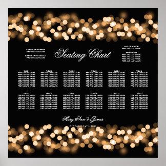 Wedding Seating Chart Gold Hollywood Glam