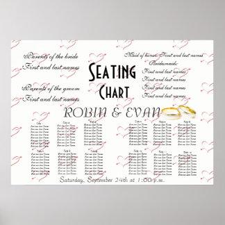 Wedding Seating Chart Hearts Destiny'S Destiny