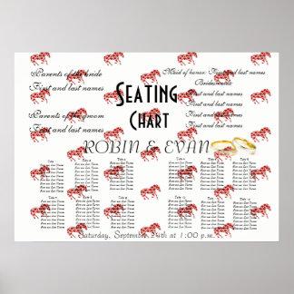 Wedding Seating Chart Hearts Destiny'S Destiny Poster