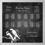 Wedding Seating Chart Love Birds Black Posters