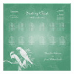 Wedding Seating Chart Love Birds Mint Posters