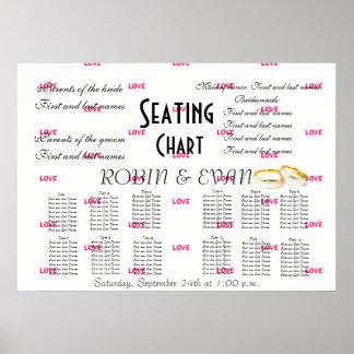 Wedding Seating Chart Love Destiny'S Destiny Poster