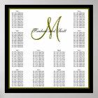 Wedding Seating Chart Monogram Names