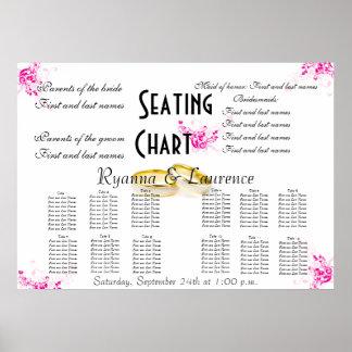 Wedding Seating Chart Mustache Floral Elegant